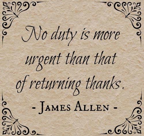 Thanks by James Allen
