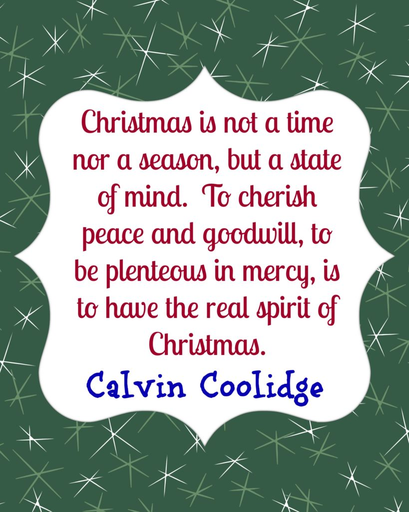 Calvin Coolidge on Christmas