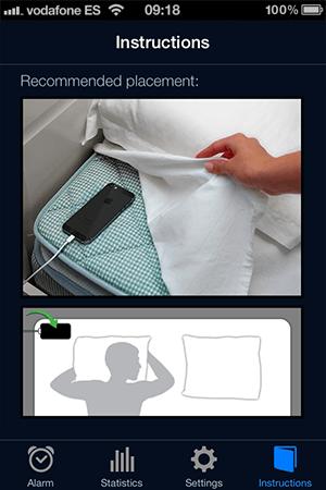 Sleep Cycle Phone Placement