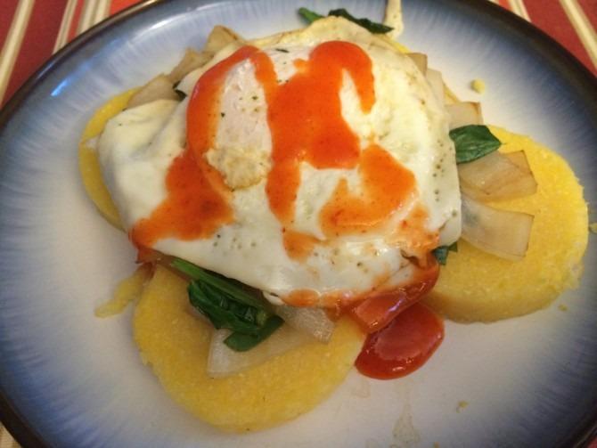 Polenta with Eggs