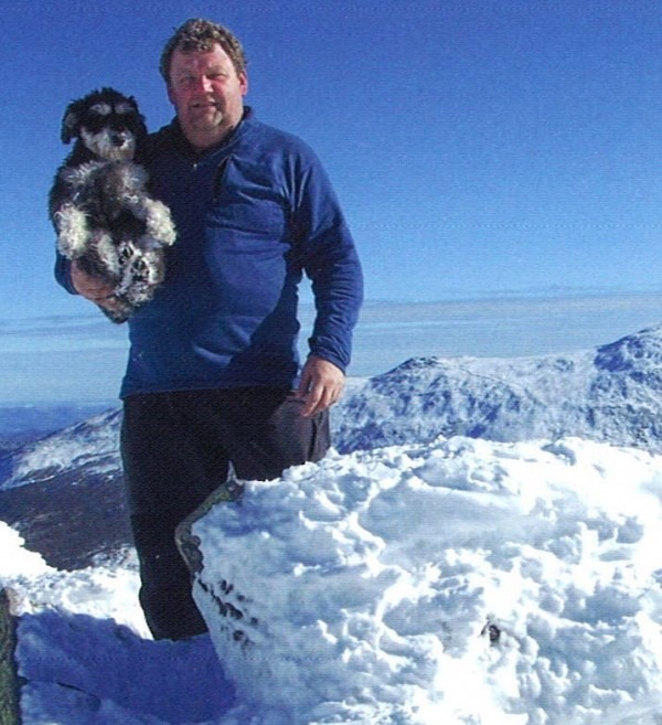 A Book Picture of Tom and Atticus on top of Mount Jefferson