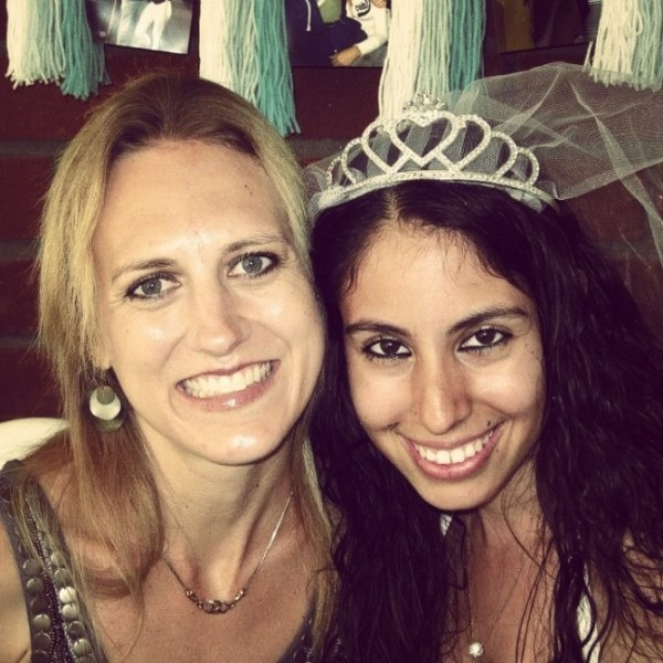 With Amairany at her bridal shower this month.