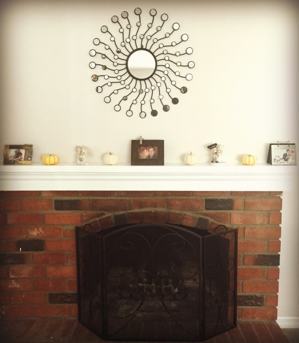 One of many pumpkin vignettes around our home!