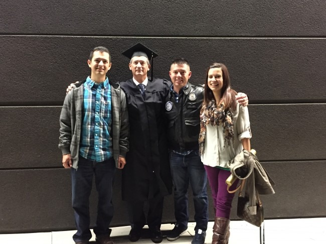My father-in-law with Luke and his brother and sister.