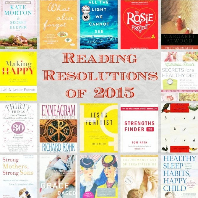 Reading Resolutions of 2015 Collage