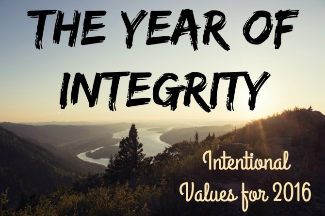 The Year of Integrity