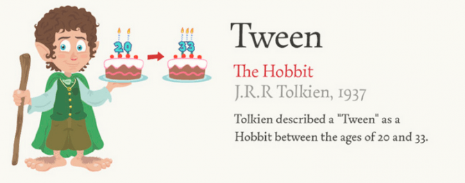 Tween from Tolkein
