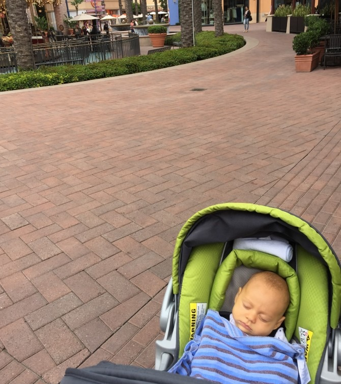 Charlie and I explore the mall.