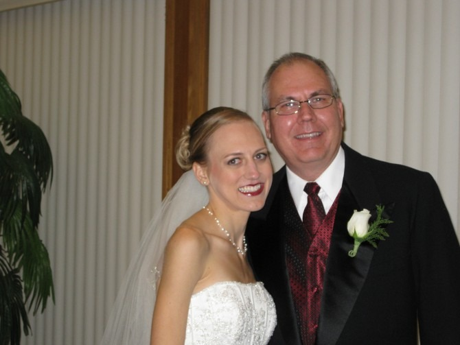 With Dad on My Wedding Day