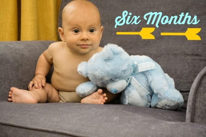 Charlie and Blue Bear Six Months