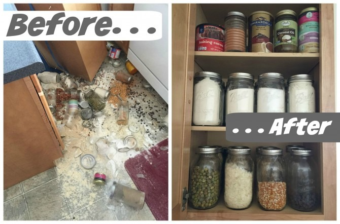 Cupboards Before and After