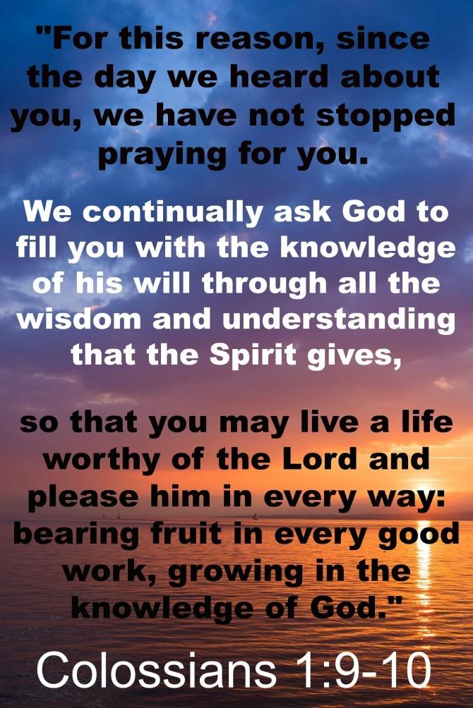 Colossians1:9-10