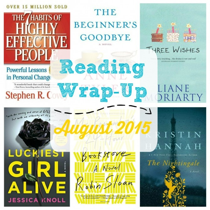 Reading Wrap-Up August 2015