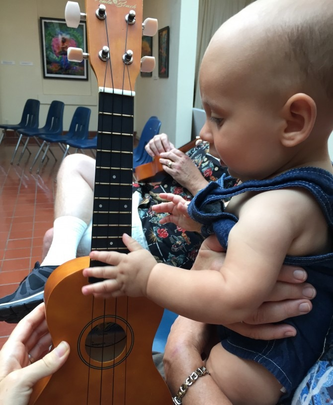 Charlie Playing Ukelele