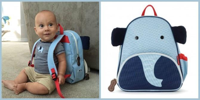 Skip Hop Zoo Pack Little Kid Backpack, Elephant