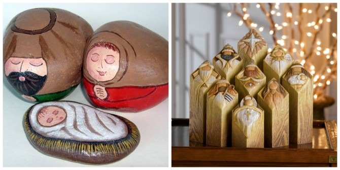 2 Unique Nativity Sets