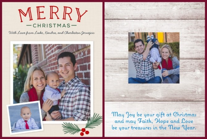 Camily Christmas Cards