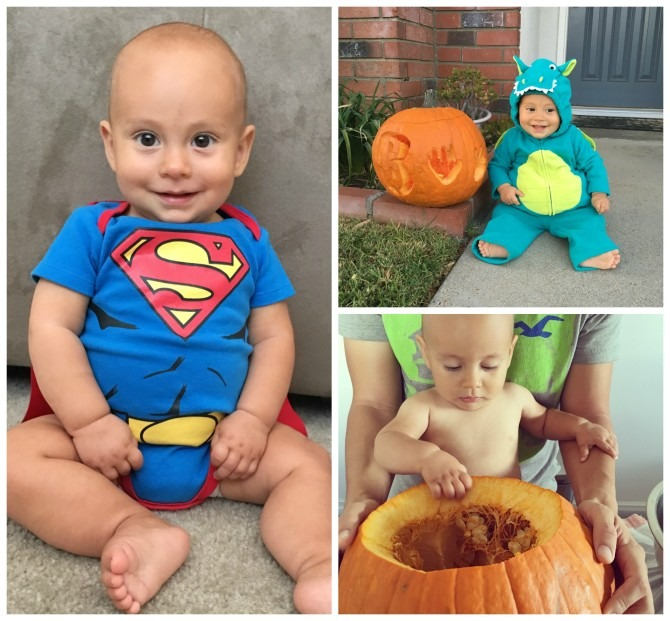 Charlie's First Halloween Collage