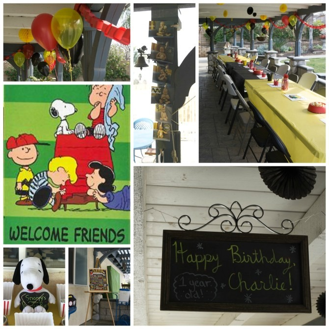 Peanuts First Birthday Decorations