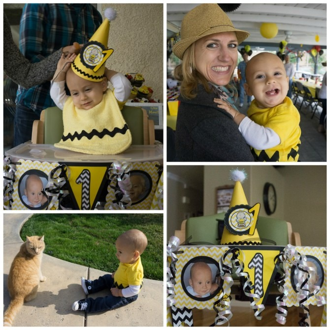 Peanuts First Birthday Party Charlie Brown Outfit