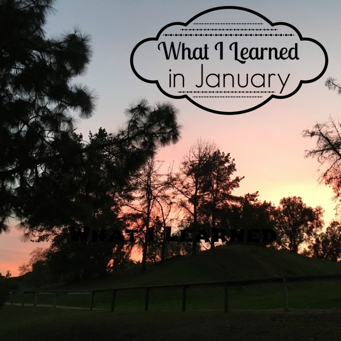 What I Learned in January 2016