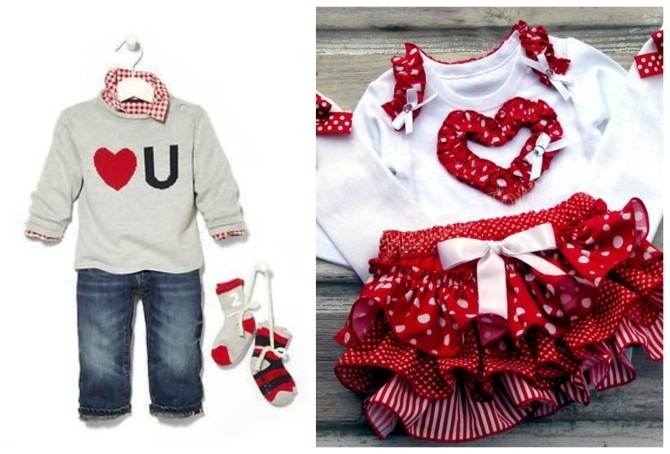 2 Toddler Valentine's Outfits