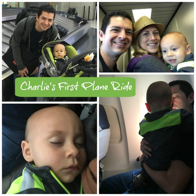Charlie's First Plane Ride