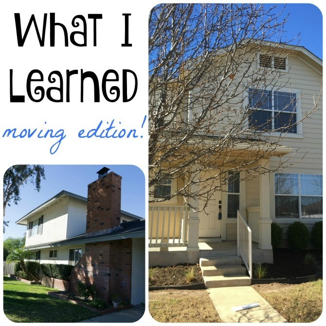 What I Learned Moving Edition