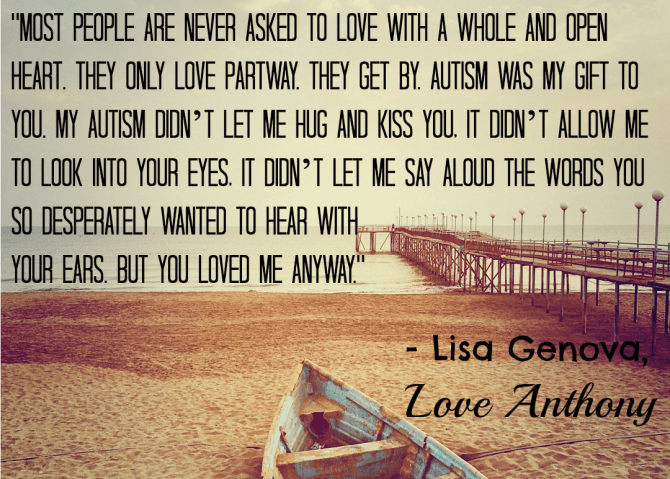 Love Anthony Quote from Lisa Genova