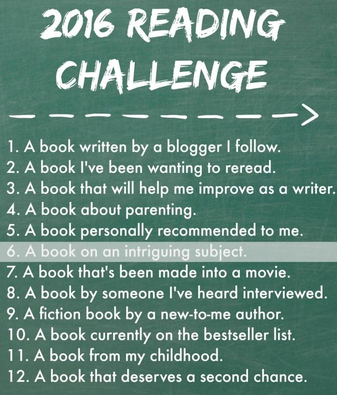 Reading Challenge Intriguing Subject
