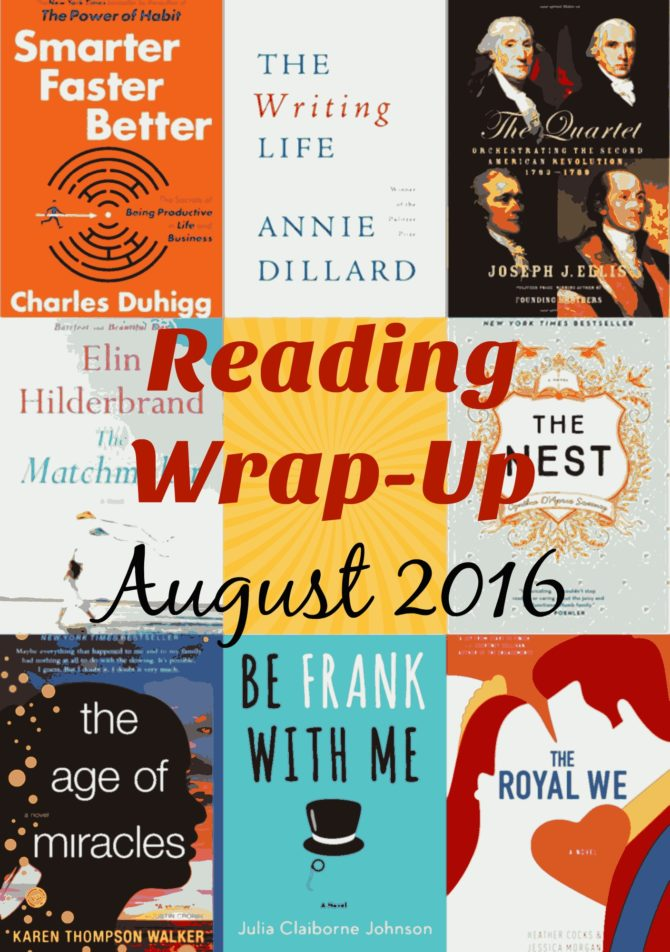 Reading Wrap-Up August 2016
