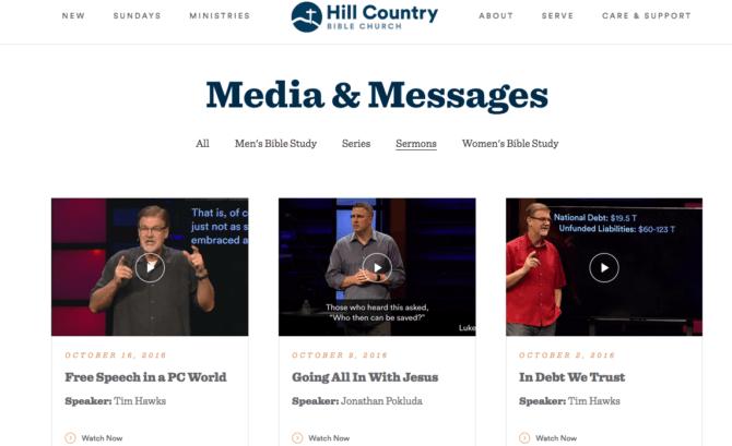 Hill Country Sermon Series