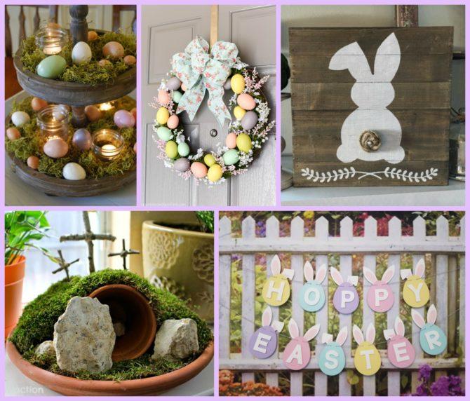 Candle Centerpiece Easter Egg Wreath Rustic Bunny Sign Resurrection Garden Hoppy Banner